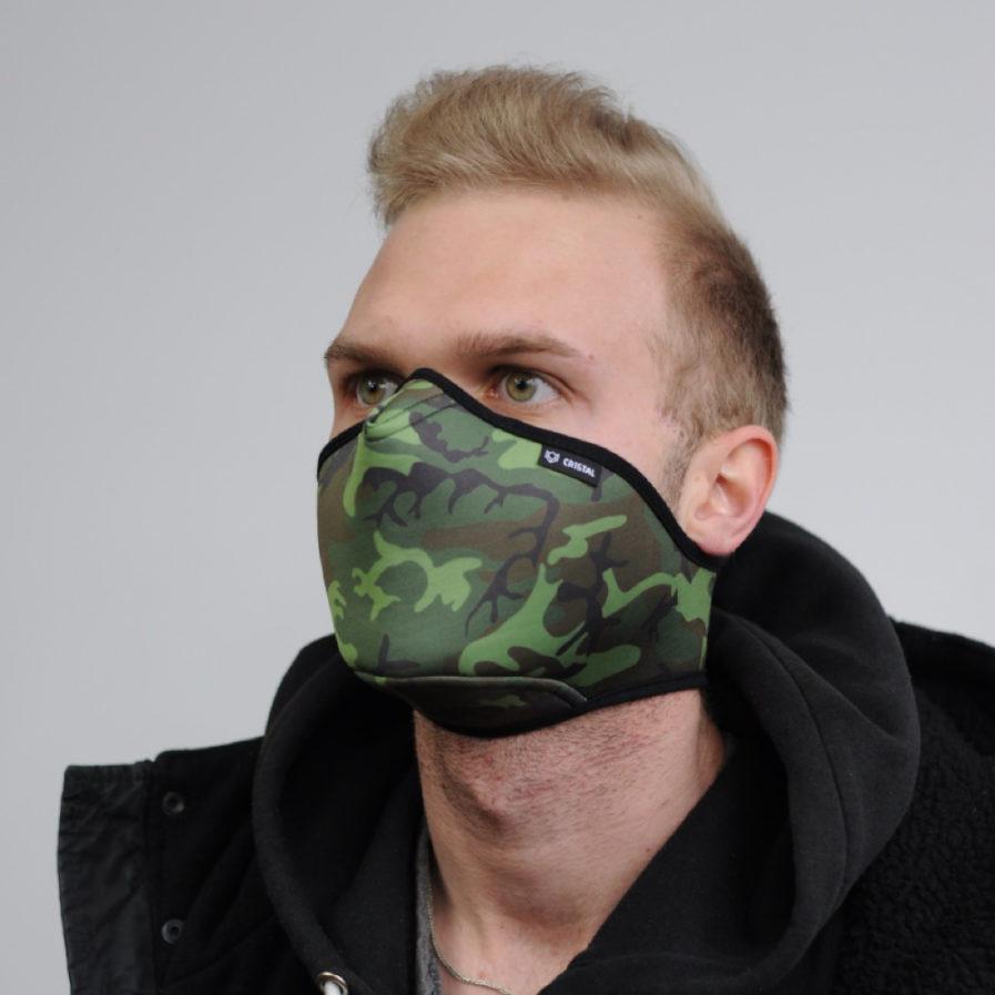 Maska ochronna Cristal Green Camo, Maski antysmogowe