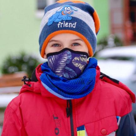 Maseczka ochronna dla dzieci, Cristal Leaves children's safety mask