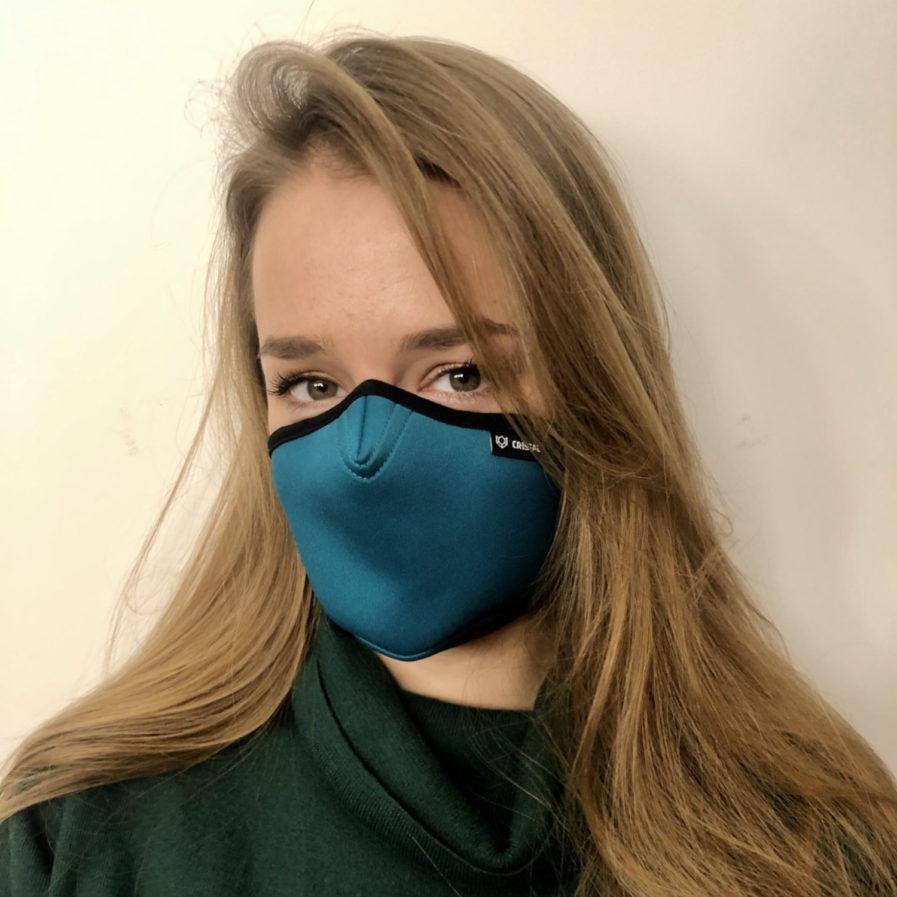 maska antysmogowa, Cristal Sea Green safety mask